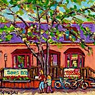 THE CUP CAKE SHOP MONTREAL CANADIAN ART by Carole  Spandau