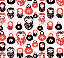 funny pattern with dolls by Tanor