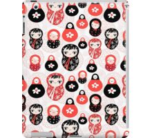 funny pattern with dolls iPad Case/Skin