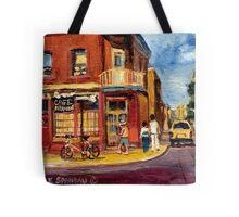 CANADIAN PAINTINGS RUE FAIRMOUNT MONTREAL STREETS  Tote Bag