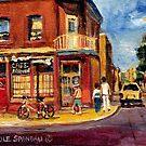 CANADIAN PAINTINGS RUE FAIRMOUNT MONTREAL STREETS  by Carole  Spandau