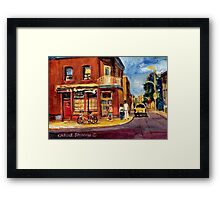 CANADIAN PAINTINGS RUE FAIRMOUNT MONTREAL STREETS  Framed Print