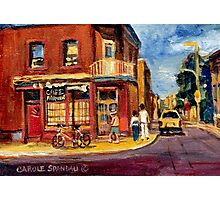 CANADIAN PAINTINGS RUE FAIRMOUNT MONTREAL STREETS  Photographic Print
