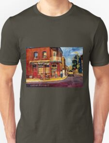 CANADIAN PAINTINGS RUE FAIRMOUNT MONTREAL STREETS  Unisex T-Shirt