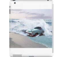 Car and the waves iPad Case/Skin