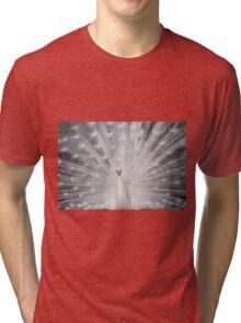 White folding fan Tri-blend T-Shirt