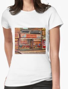 PARK AVENUE FRUIT STORE MONTREAL SCENE CANADIAN PAINTING T-Shirt