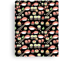delicious Japanese sushi   Canvas Print