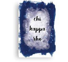 Chi Kappa Rho Canvas Print