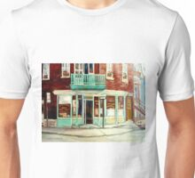 VINTAGE BAKERY MONTREAL CORNER STORE CANADIAN ART Unisex T-Shirt