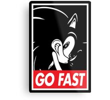 GO FAST Metal Print