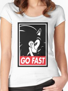 GO FAST Women's Fitted Scoop T-Shirt