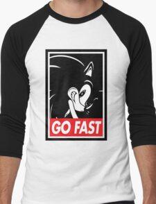GO FAST Men's Baseball ¾ T-Shirt