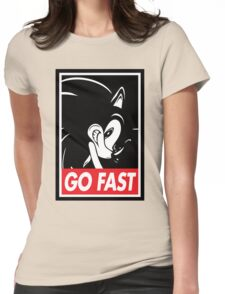 GO FAST Womens Fitted T-Shirt