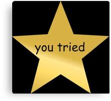 you tried star Canvas Print