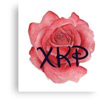 Chi Kappa Rho Rose Canvas Print