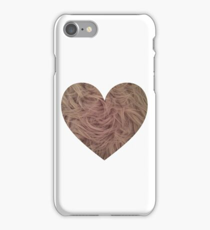 Mink Fur Heart  iPhone Case/Skin