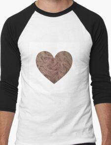 Mink Fur Heart  Men's Baseball ¾ T-Shirt