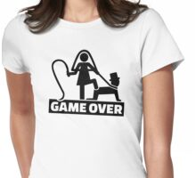 Game over wedding Womens Fitted T-Shirt