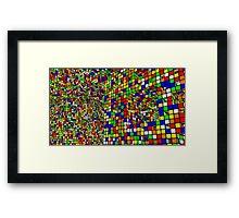 Cubo di Rubik Framed Print