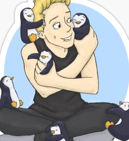 The Penguin and his Penguins Sticker