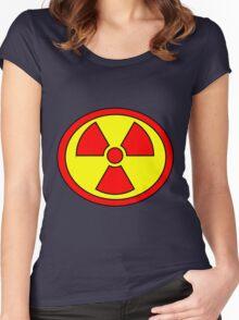 Hero, Heroine, Superhero, Super Radioactive Women's Fitted Scoop T-Shirt