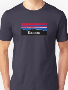 Kansas Red White and Blue Unisex T-Shirt