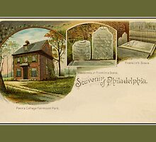 1890s Souvenir of Philadelphia, John Penn, Benjamin Franklin by aapshop