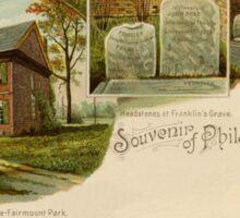 1890s Souvenir of Philadelphia, John Penn, Benjamin Franklin Sticker