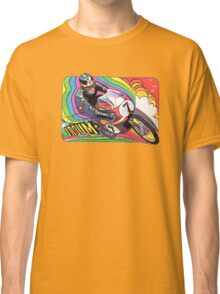 Vintage Motorcycle Motor Vroom decal 70's wild Classic T-Shirt