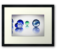 The World of Marbles Framed Print