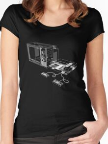 NES and TV Wireframe Women's Fitted Scoop T-Shirt