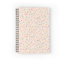 Raindrops, peach Spiral Notebook