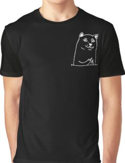 Middle fingers dog - version 2 - white Graphic T-Shirt
