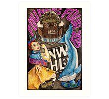 NWHL - Founding Four Art Print