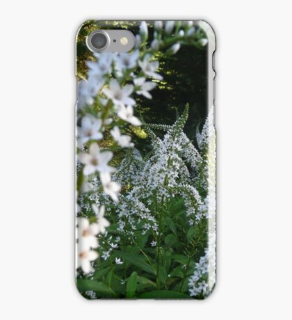 White flowers are not boring! iPhone Case/Skin
