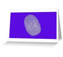 Finger print - touch finger  Greeting Card