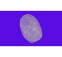 Finger print - touch finger  Photographic Print