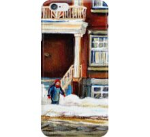MONTREAL WINTER WALK AFTER THE SNOWSTORM iPhone Case/Skin