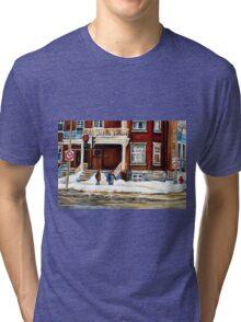 MONTREAL WINTER WALK AFTER THE SNOWSTORM Tri-blend T-Shirt