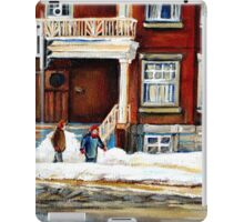 MONTREAL WINTER WALK AFTER THE SNOWSTORM iPad Case/Skin
