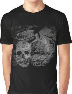 P-40 with Winged Skull Graphic T-Shirt