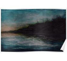 Stormy Lake Erie Pastel Poster
