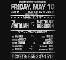 """The Wrestler - Randy """"The Ram"""" Flyer (White Text) Unisex T-Shirt"""