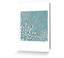 Flower Power Teal/Pink Greeting Card