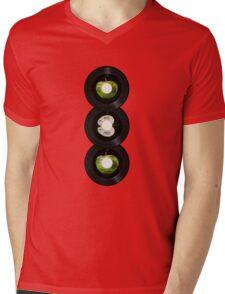 45 Spin-Fab Four Mens V-Neck T-Shirt