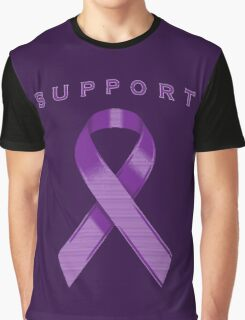Purple Awareness Ribbon of Support Graphic T-Shirt