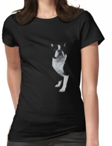 left face boston Womens Fitted T-Shirt