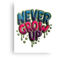 Never Grow Up [White] Canvas Print