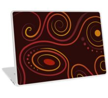 Flame Loops Laptop Skin